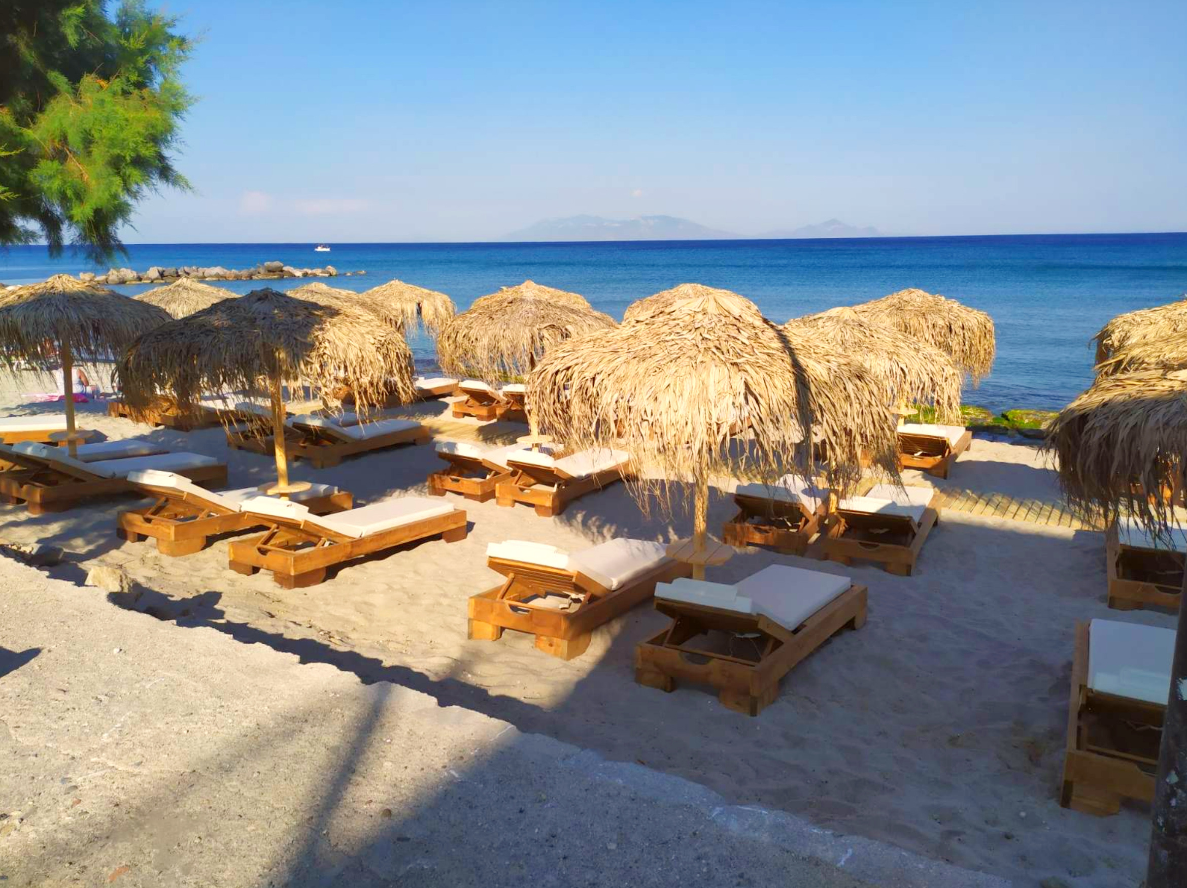 Sunbeds & Umbrellas by the Beach